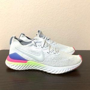 Nike Womens running shoes react Flyknit 2 size 8.5